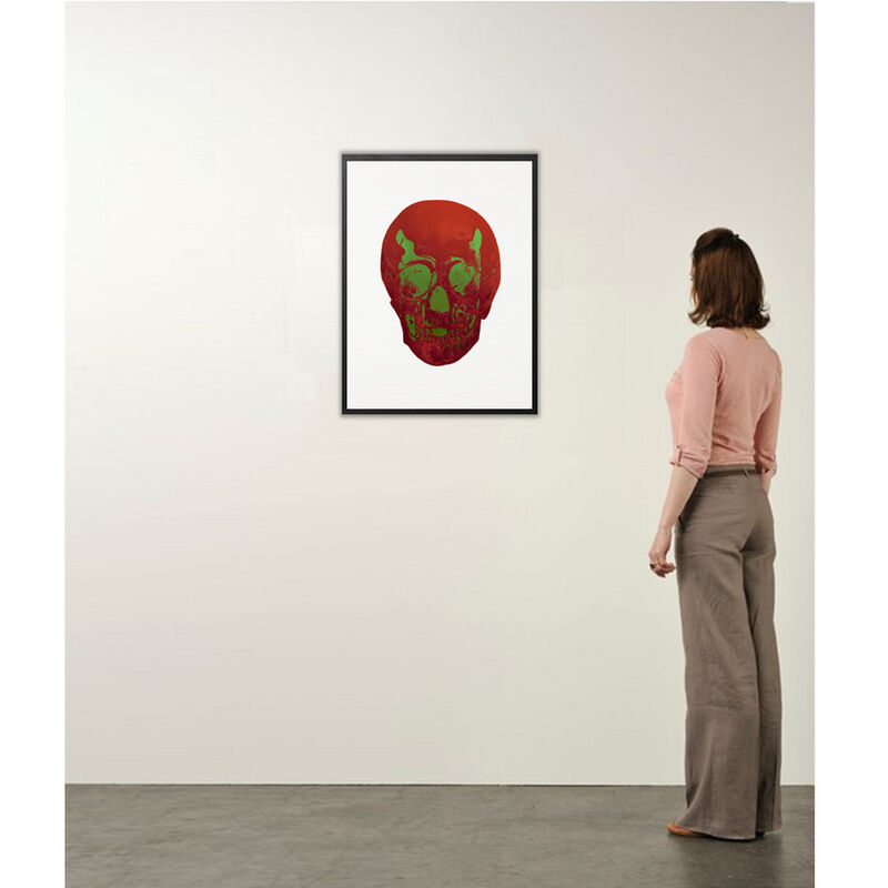 Damien Hirst, 'The Dead (Chili Red Lime Green Skull)', 2009, Print, Color Foil Block Print on Arches 88 paper, Weng Contemporary
