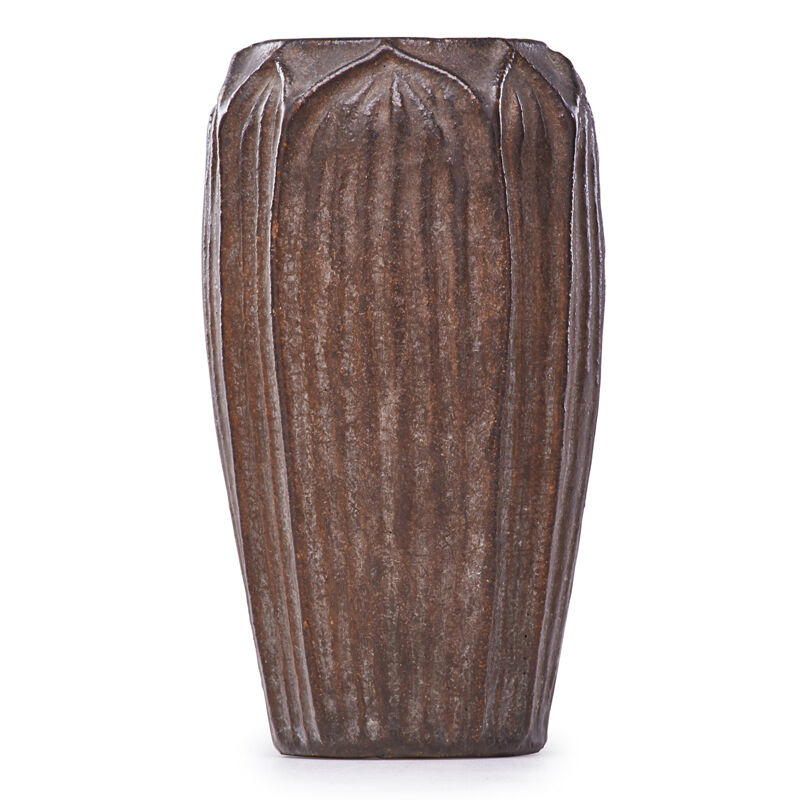 Wheatley, 'Vase With Leaves, Dark brown glaze, Cincinnati, OH', ca. 1905, Design/Decorative Art, Rago/Wright/LAMA