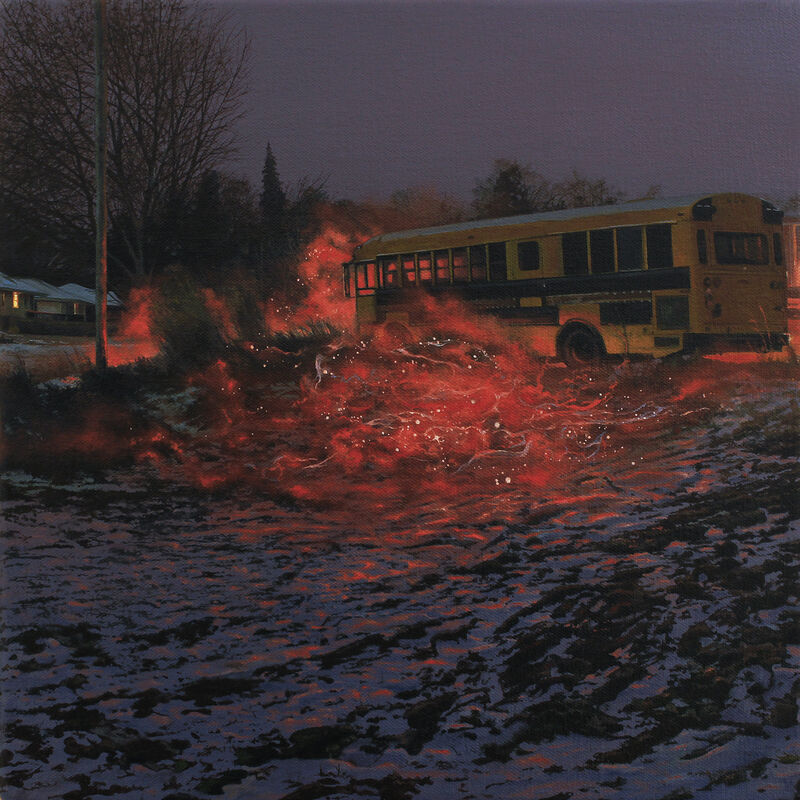 Nate Burbeck, 'Apparition (School Bus)', 2019, Painting, Oil on Canvas, The Olympia Project