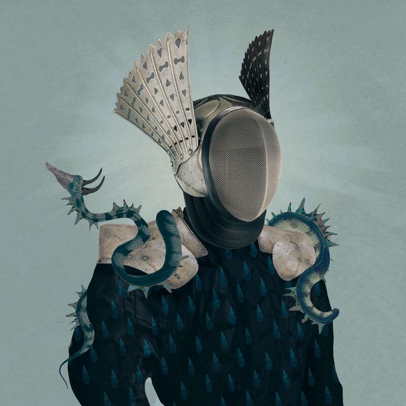 Deming King Harriman, 'Isolation Art:  Masks V', 2021, Print, Digital collage print, Deep Space Gallery