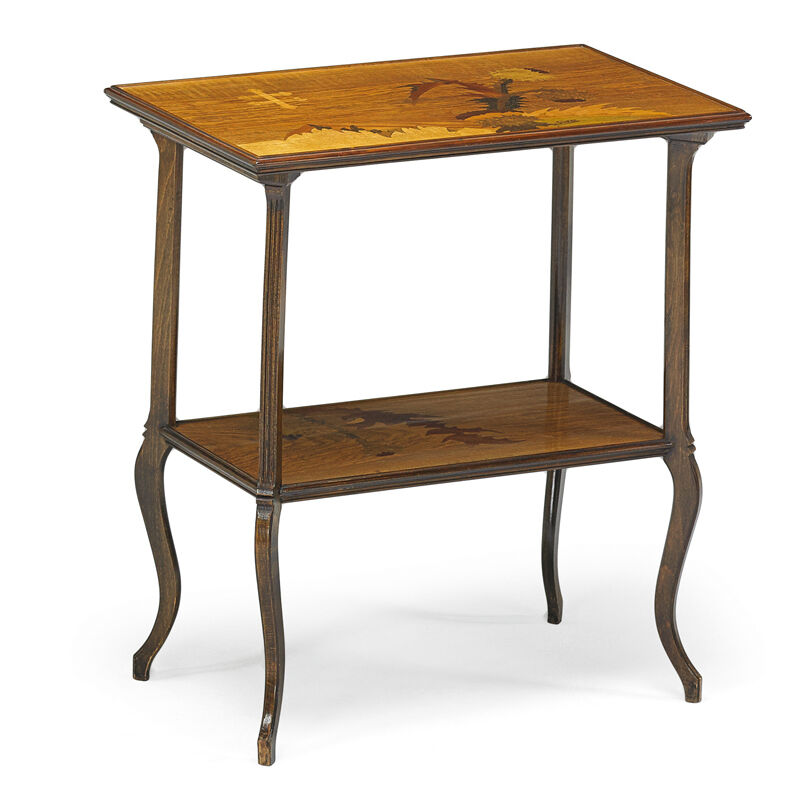 Emile Gallé, 'Tiered Marquetry Side Table With Thistle, France', ca. 1900, Design/Decorative Art, Rago/Wright