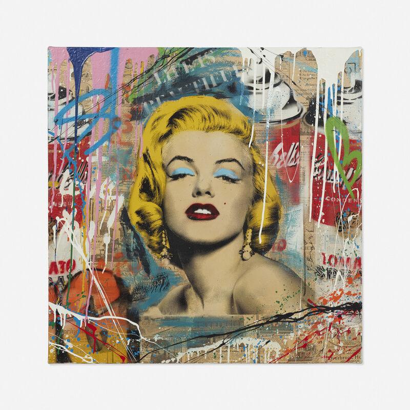 Mr. Brainwash, 'Life is Beautiful (Marilyn)', 2016, Painting, Acrylic, spray paint, screenprint, and newsprint collage on canvas, Rago/Wright/LAMA
