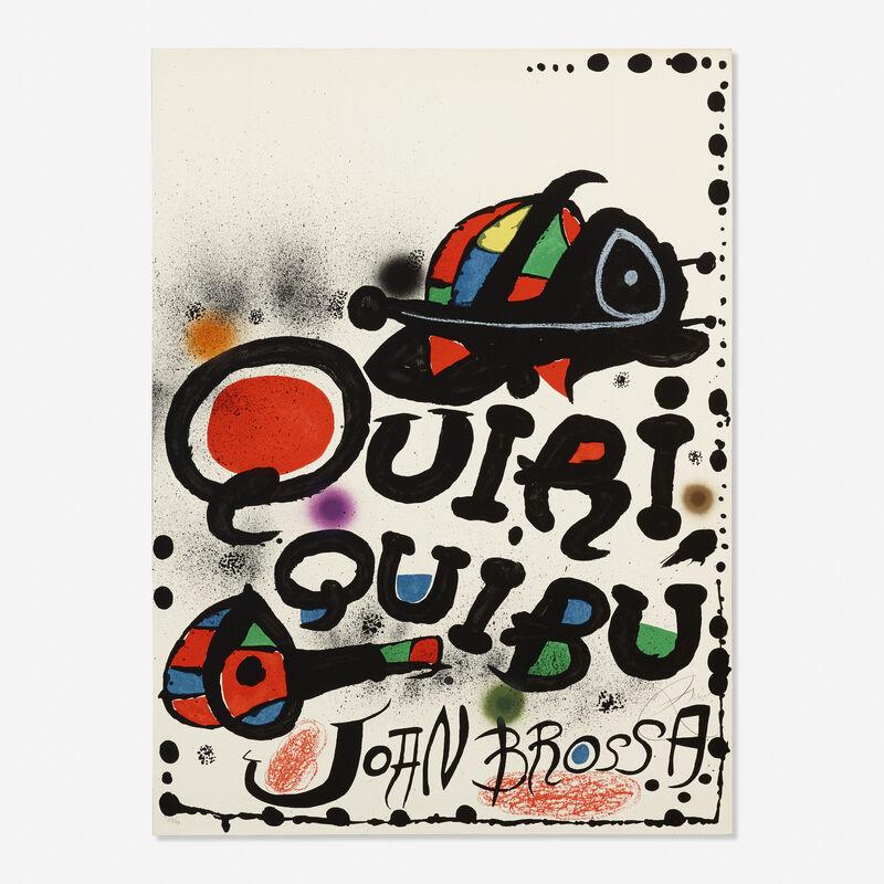 Joan Miró, 'Quiri Quibu John Brossa', 1976, Print, Lithograph in colors, Rago/Wright/LAMA
