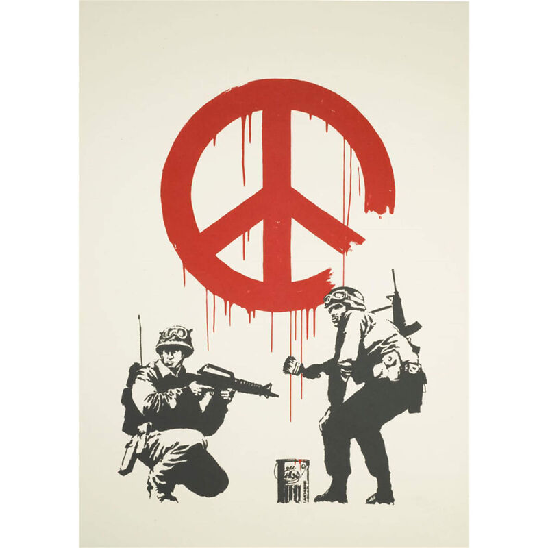 Banksy, ''CND Soldiers' (Unsigned)', 2005, Print, Screen Print on 250gsm Recycled Stock, ArtLife Gallery