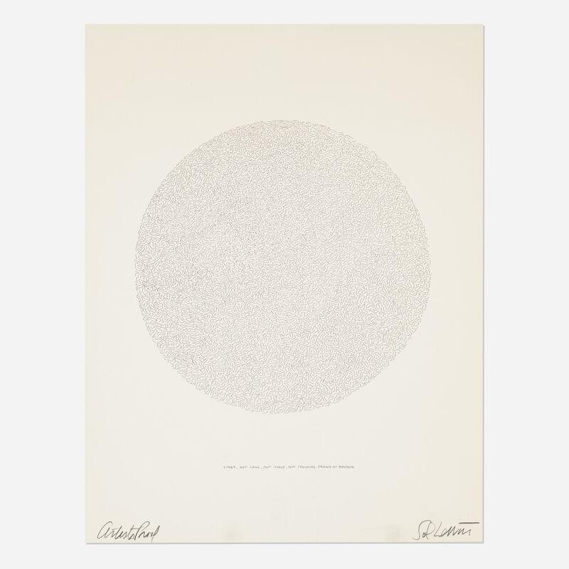 Sol LeWitt, 'Lines, Not Long, Not Heavy, Not Touching, Drawn at Random (Circle)', 1970, Print, Lithograph, Rago/Wright/LAMA