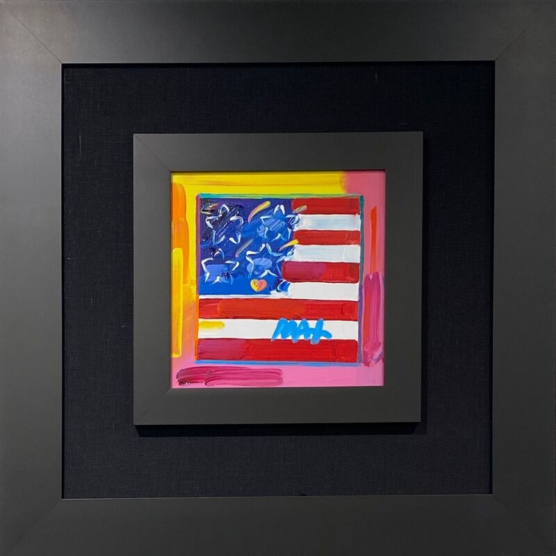 Peter Max, 'Flag With Heart ', 2018, Painting, Acrylic on canvas, Off The Wall Gallery