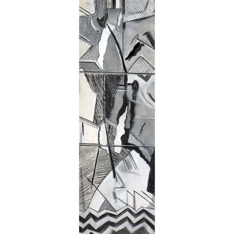 Myrna Burks, 'Jacob's Ladder', 2015, Drawing, Collage or other Work on Paper, Charcoal on paper, Carter Burden Gallery