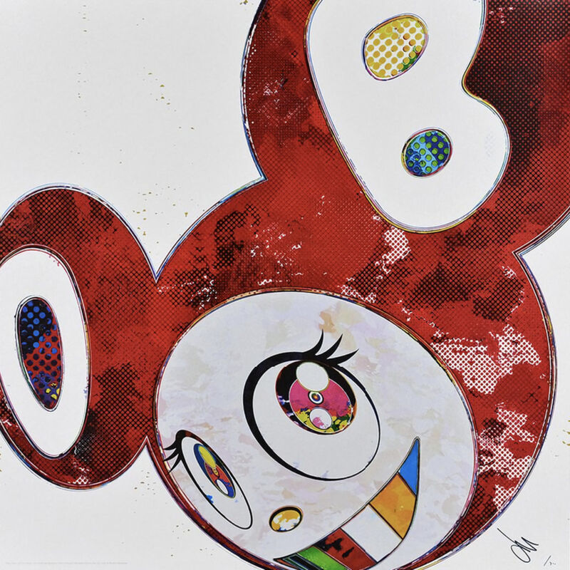 Takashi Murakami, 'And Then × 6 (Red: The Superflat Method)', 2013, Print, Offset print, with silver, ArtLife Gallery