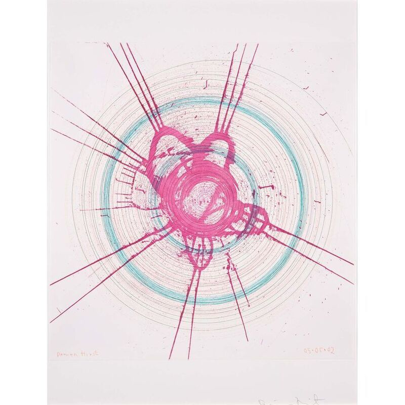 Damien Hirst, 'Global-a-go-go-for Joe (from In a Spin, the Action of the World on Things, Volume I)', 2002, Print, Etching in colour on 350gsm Hahnemühle paper, Weng Contemporary