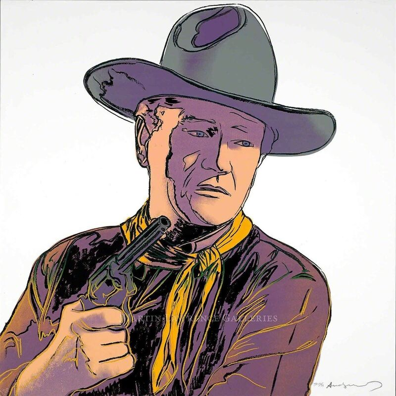 Andy Warhol, 'John Wayne, 1986 (#377, Cowboys & Indians)', 1986, Print, Unique trial-proof hand-signed screenprint, Martin Lawrence Galleries