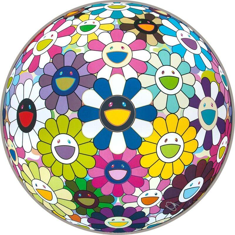 Takashi Murakami, 'Flowerball', 2014, Print, Offset Lithographic, EHC Fine Art Gallery Auction