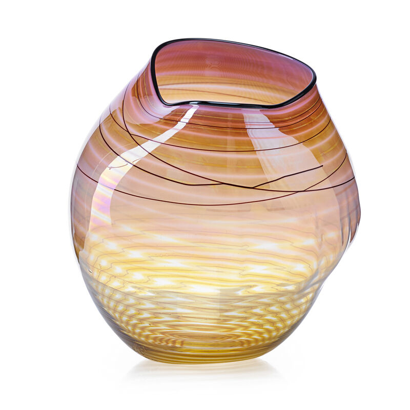 Dale Chihuly, 'Coral Basket with Black Lip Wrap, Seattle, WA', 1998, Design/Decorative Art, Blown glass, Rago/Wright/LAMA