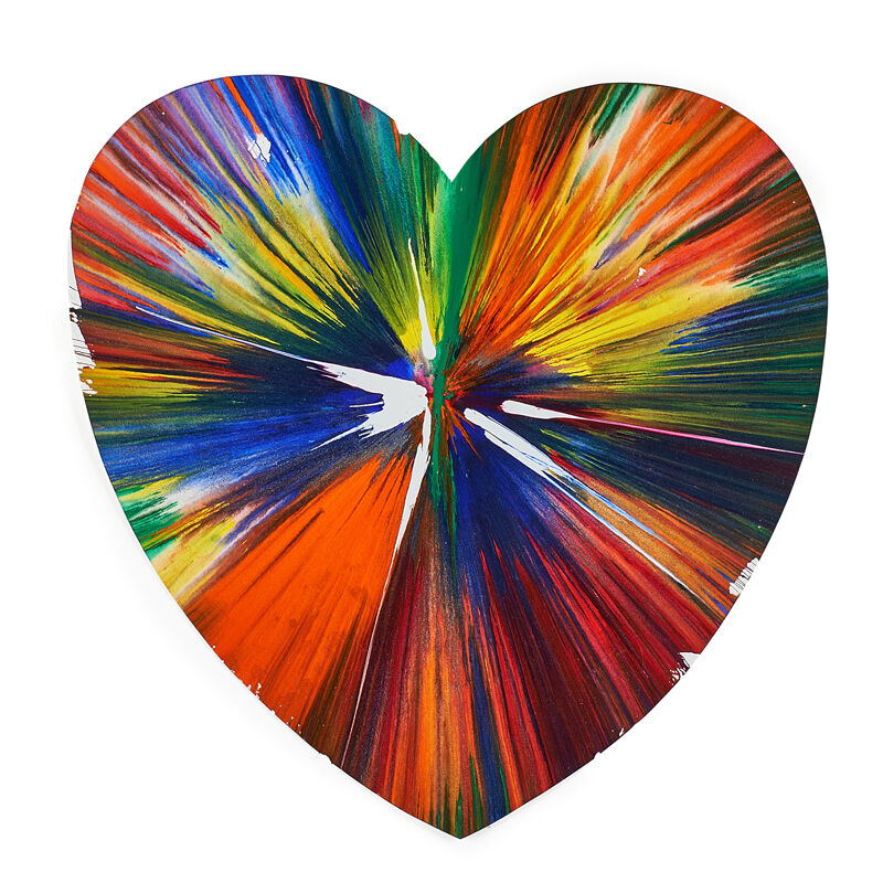 Damien Hirst, 'Heart Spin Painting (Created at  Damien Hirst Spin Workshop)', 2009, Acrylic on paper, Rago/Wright/LAMA