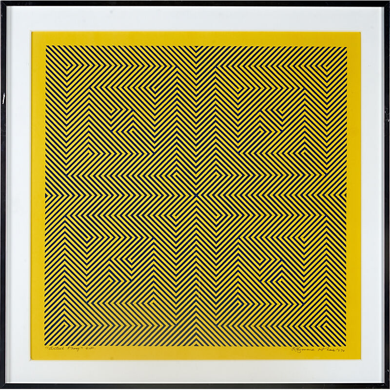 """Reginald Neal, '""""Squares Of Two"""" Artist Proof, USA', 1970, Print, Lithograph In Colors, Rago/Wright"""