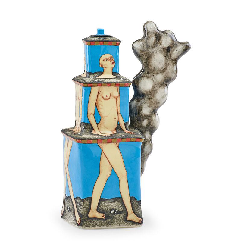 "Sergei Isupov, 'Teapot, ""Smoke on Three Floors""', ca. 1997, Design/Decorative Art, Glazed porcelain, Rago/Wright"