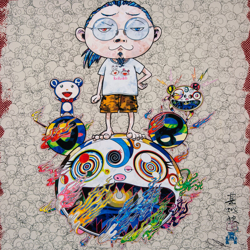 Takashi Murakami, 'Obliterate the Self and Even a Fire is Cool', 2013, Print, Offset print with silver, Pinto Gallery