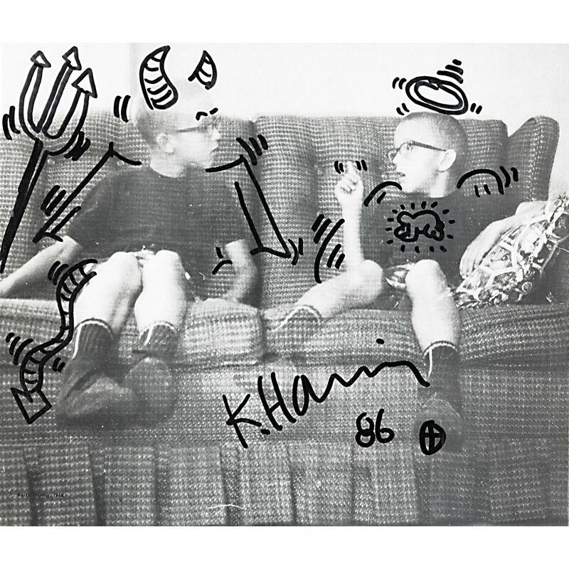 Keith Haring, 'Devil Angel (Stedelijk Museum Catalogue)', 1986, Mixed Media, Marker on exhibition catalogue, Rago/Wright
