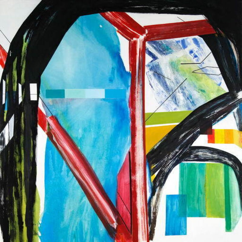 Laura Newman, 'Interior with Paint Chips (Abstract Expressionism painting)', 2016, Painting, Oil and acrylic on canvas, IdeelArt