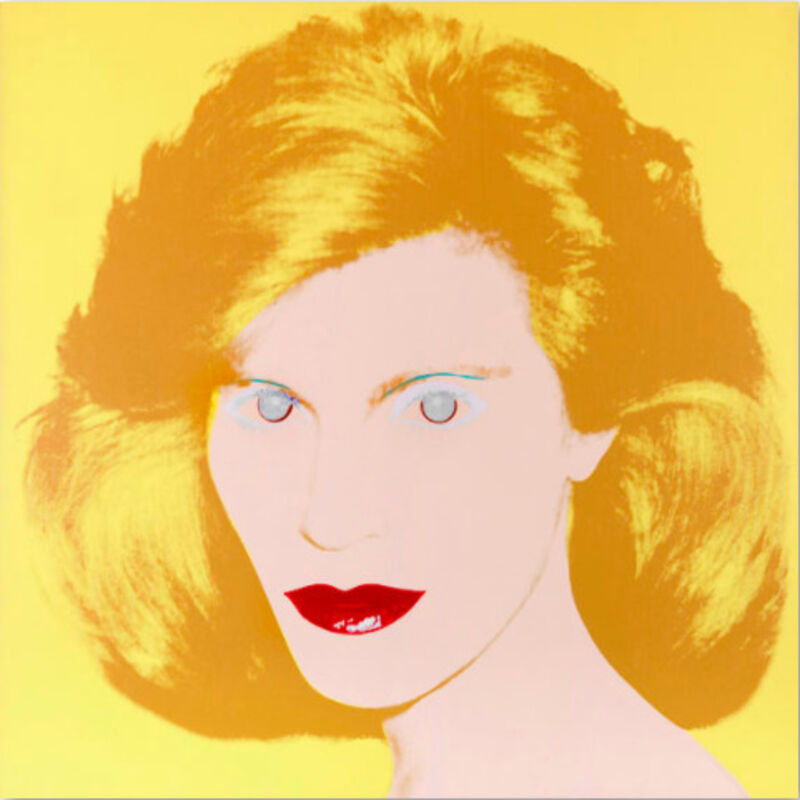 Andy Warhol, 'Portrait of a Lady', 1984, Mixed Media, Synthetic polymer- and silkscreen colors on canvas, Mirat