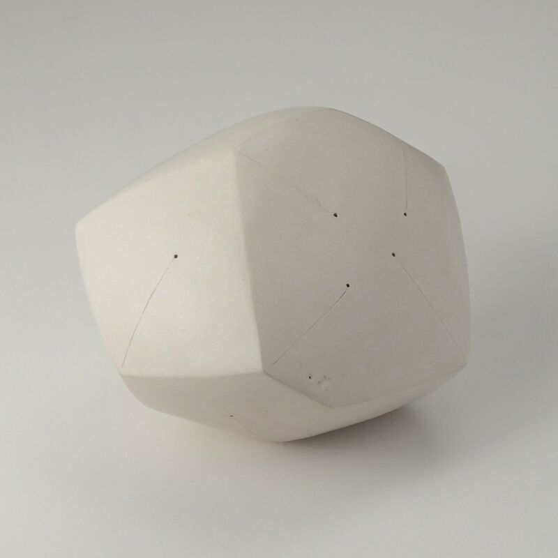 Nadia Pasquer, 'Polyèdre blanc', 2014, Sculpture, Polished and incised stoneware, Maison Gerard