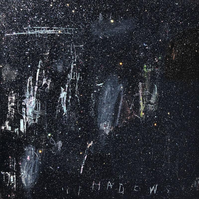 Gino Belassen, 'In The Shadows', 2019, Painting, Acrylic, Spray Paint, Pastel, Glitter, Resin on Panel, Belhaus