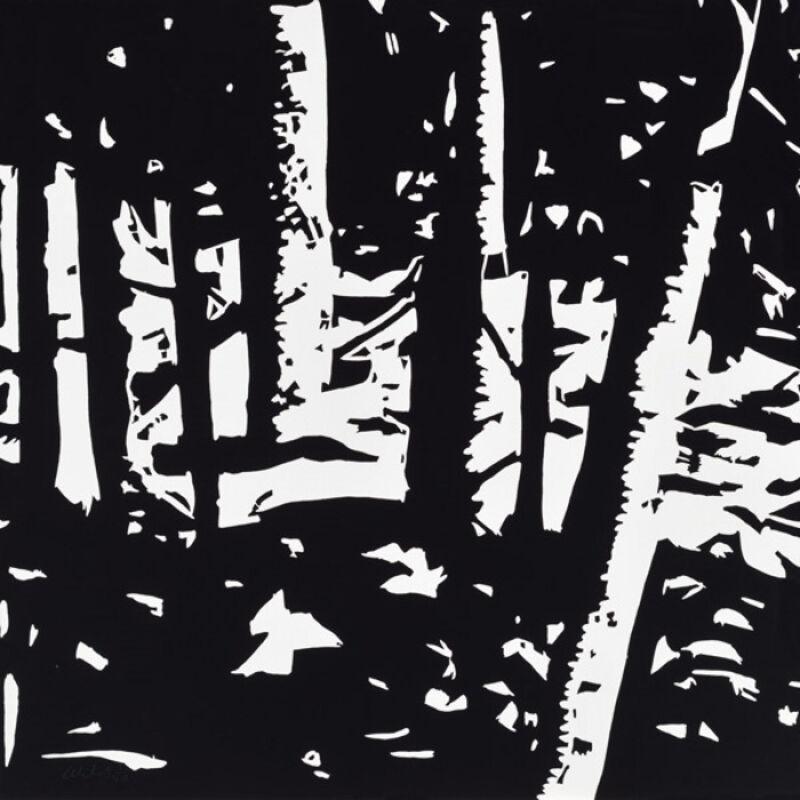 Alex Katz, 'Alex Katz, Maine Woods 2', 2015, Print, Woodblock on paper, Oliver Cole Gallery