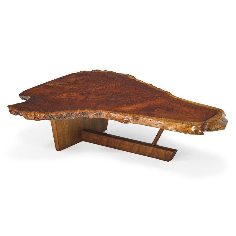 George Nakashima, 'Fine Transitional Minguren II Coffee Table, New Hope, PA', 1990, Design/Decorative Art, Claro Walnut Burl, Walnut, Rago/Wright