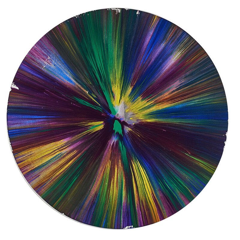 Damien Hirst, 'Circle Spin Painting (Created at  Damien Hirst Spin Workshop)', 2009, Acrylic on paper, Rago/Wright