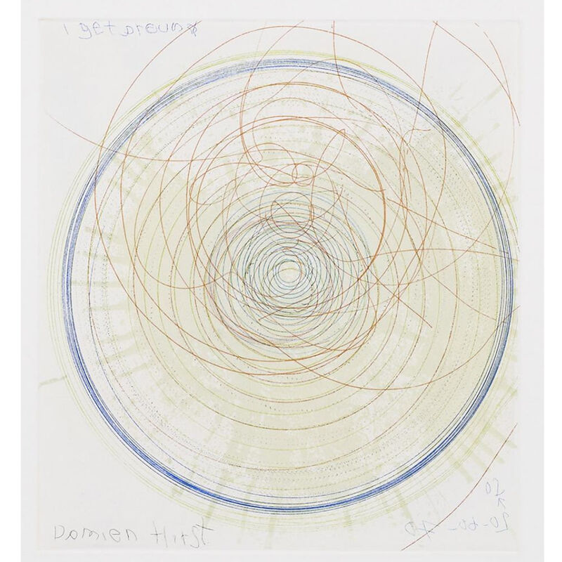 Damien Hirst, 'I Get Around (from In a Spin, the Action of the World on Things, Volume I)', 2002, Print, Etching in color, Weng Contemporary