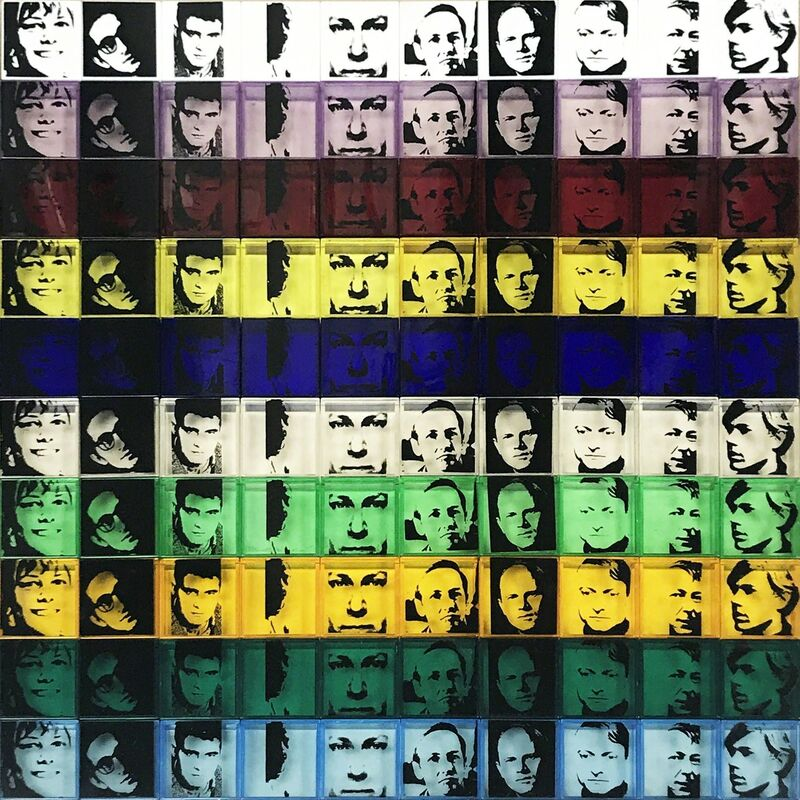 Andy Warhol, 'Portraits of the Artists II.17', 1967, Sculpture, One hundred polystyrene boxes in ten colors each 2 x 2 inches, Hamilton-Selway Fine Art