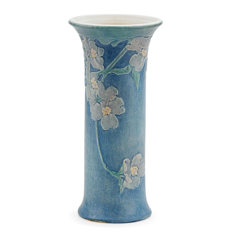 Sadie Irvine, 'Newcomb College, Tall Flaring Vase With Dogwood Blossoms, New Orleans, LA', 1920, Design/Decorative Art, Rago/Wright