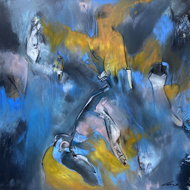SOSSIO, 'That deep dark blue space', 2018, Painting, Oil on canvas, Aria Art Gallery
