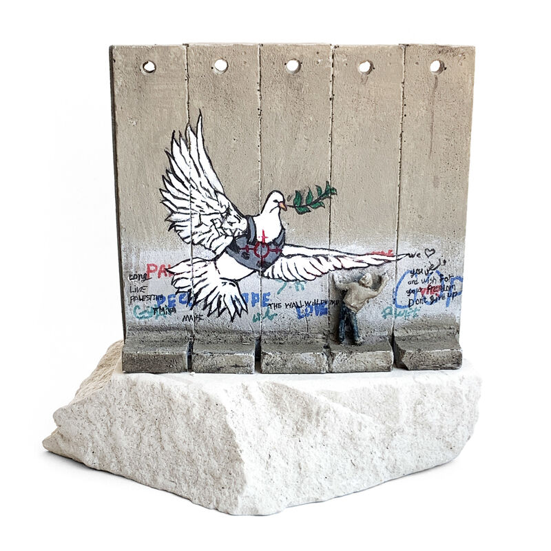 Banksy, 'Walled Off Hotel, Five Part Souvenir Wall Section (Peace Dove)', 2018, Sculpture, Hand painted resin sculpture with West Bank Separation Wall base, Oliver Clatworthy