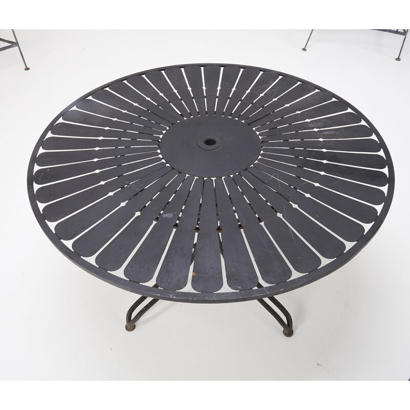 Russell Woodard, 'Dining Table And Four Armchairs, USA', 1960s, Design/Decorative Art, Enameled Iron, Rago/Wright