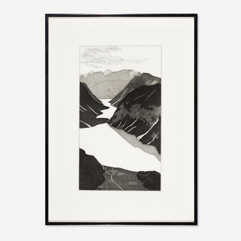 David Hockney, 'The Lake from Illustrations for Six Fairy Tales from the Brothers Grimm', 1969, Print, Etching, Rago/Wright/LAMA