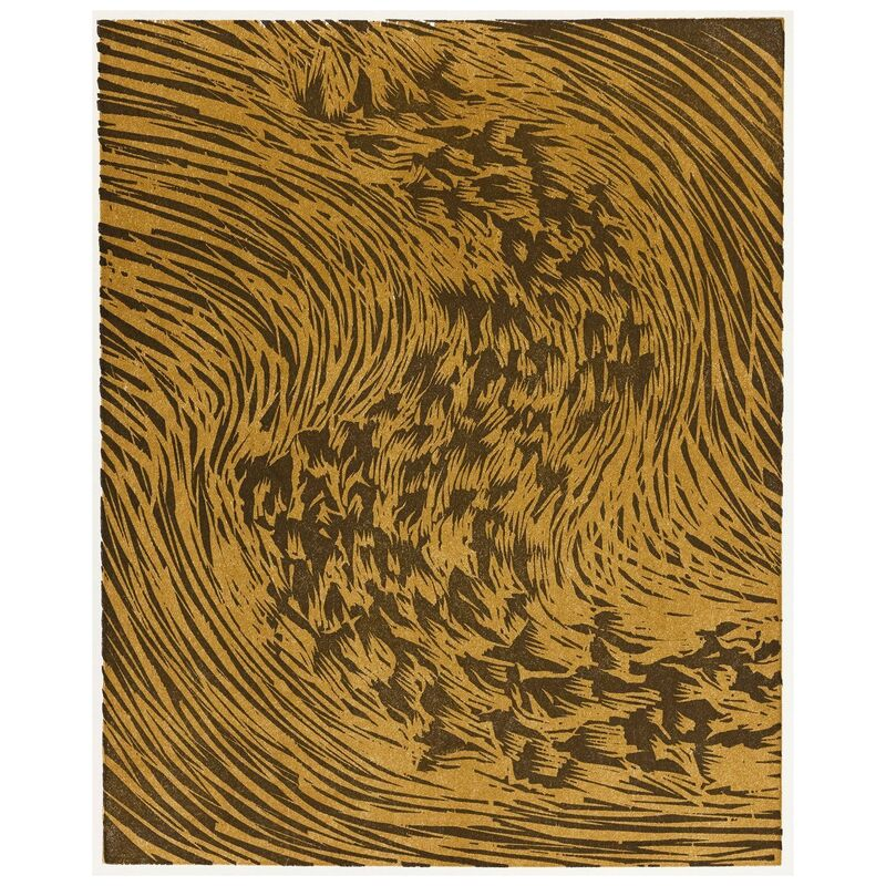 James Nares, 'Starling (From artist book A Bestiary by Bradford Morrow) ', 1990, Print, Relief print in black and ochre on Somerset paper, Caviar20