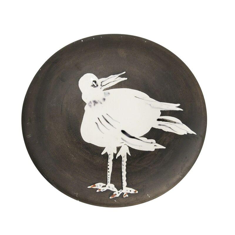 Pablo Picasso, 'Bird No. 93', 1963, Design/Decorative Art, Round white earthenware plate glazed in white, matte black, and red, Skinner