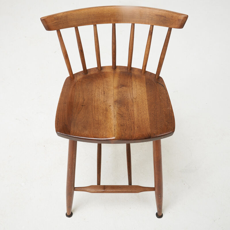 George Nakashima, 'Two High Stools, New Hope, PA', 1970, Design/Decorative Art, Walnut, Rago/Wright