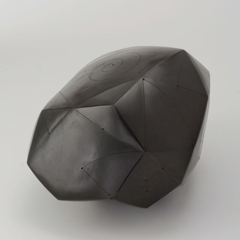 Nadia Pasquer, 'Polyèdre noir', 2014, Sculpture, Smoked, polished, and incised stoneware, Maison Gerard