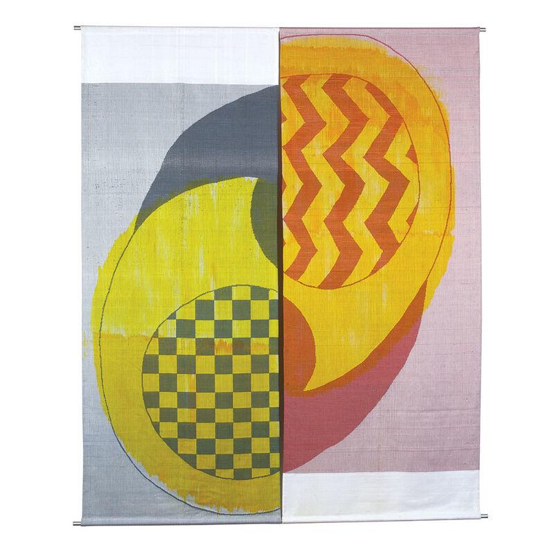 Ethel Stein, 'Butah', 2011, Textile Arts, Mercerized cotton, damask, ikat weft, browngrotta arts