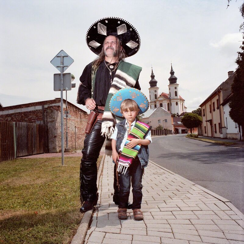 Naomi Harris, ''Mexican' Father and Son, Brezno, Czech Republic', 2014, Photography, Archival Pigment Print, Circuit Gallery