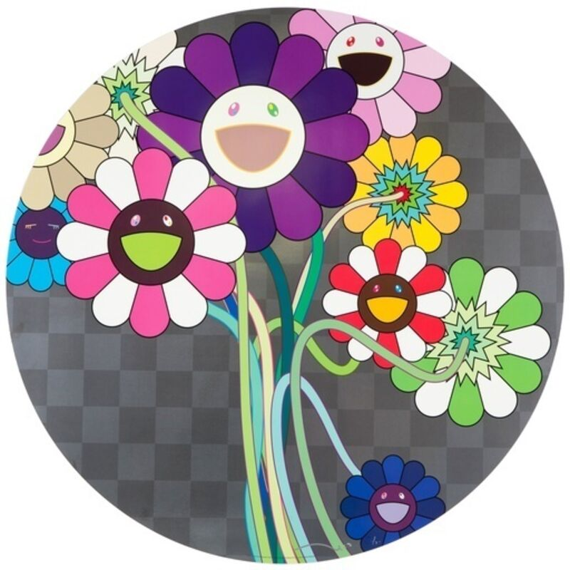 Takashi Murakami, 'Purple Flowers in a Bouquet', 2010, Print, Offset lithograph printed in colors, Lougher Contemporary