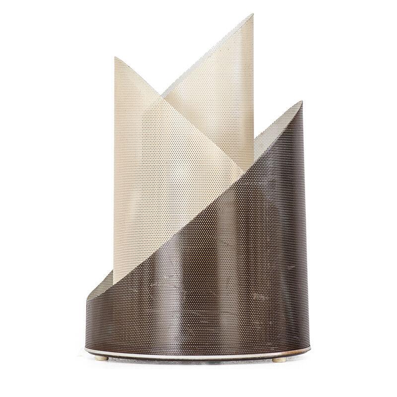 Bini, 'Sculptural Table Lamp, France', 1950s, Design/Decorative Art, Perforated and enameled metal, single socket, Rago/Wright