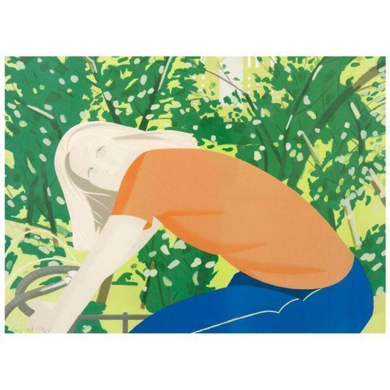 Alex Katz, 'Bicycle Rider', 1982, Print, 17 color Lithograph, Caviar20