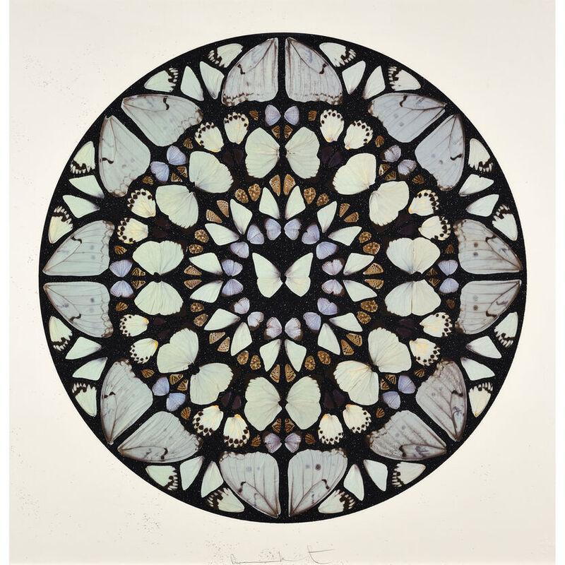 Damien Hirst, 'Damien Hirst, Benedictus Dominus (Psalm)', 2009, Print, Silkscreen with diamond dust, Oliver Cole Gallery