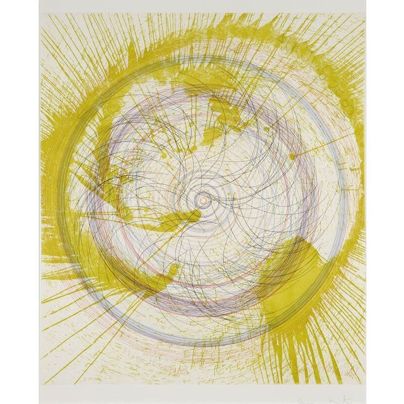 Damien Hirst, 'Throw it around (from In a Spin, the Action of the World on Things, Volume II)', 2002, Print, Etching in colours on 350gsm Hahnemühle paper, Weng Contemporary