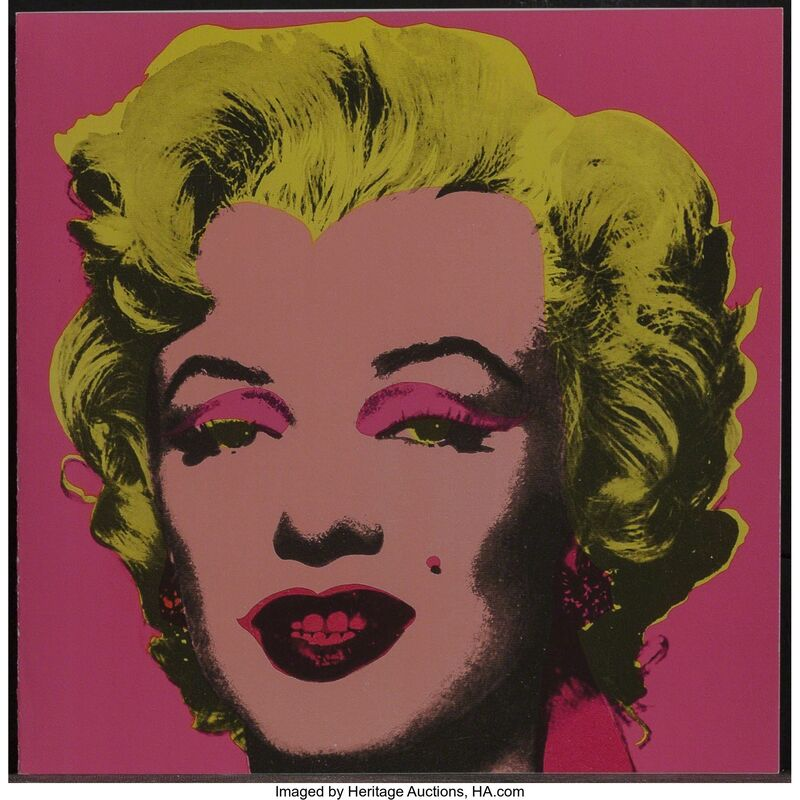 Andy Warhol, 'Marilyn Monroe Announcement Card', 1981, Print, Offset lithograph in colors on paper, Heritage Auctions