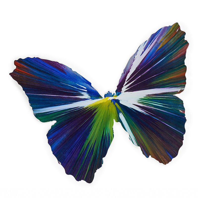 Damien Hirst, 'Butterfly Spin Painting (Created  at Damien Hirst Spin Workshop)', 2009, Acrylic on paper, Rago/Wright