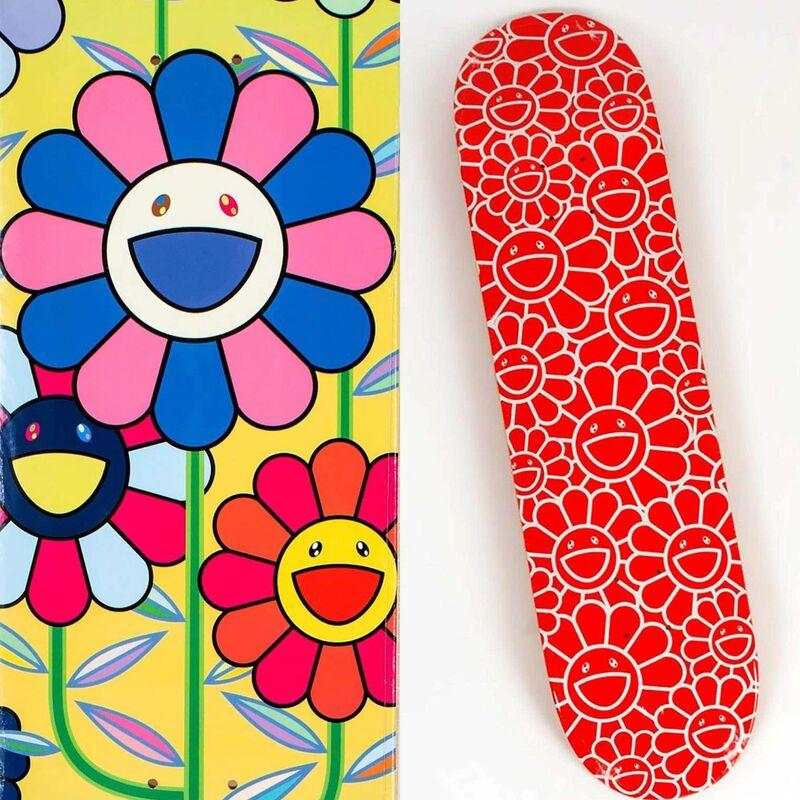 Takashi Murakami, 'Takashi Murakami Flowers skateboard decks: set of 2 (Takashi Murakami skate) ', 2017-2019, Design/Decorative Art, Silkscreen on Maple Wood, Lot 180