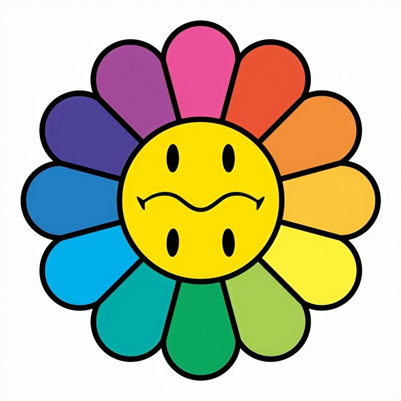Takashi Murakami, 'Rainbow Smiley', 2020, Print, Silkscreen, Pinto Gallery